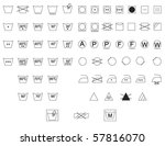 care instruction symbols for... | Shutterstock .eps vector #57816070