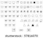 care instruction symbols for... | Shutterstock .eps vector #57816070