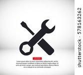 tool vector icon 10 eps | Shutterstock .eps vector #578163262