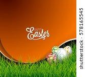 vector easter holiday...   Shutterstock .eps vector #578165545