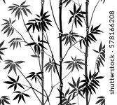 Bamboo Seamless Pattern On...