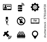communication icon. set of 9... | Shutterstock .eps vector #578166928