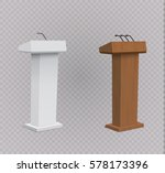 vector podium tribune with... | Shutterstock .eps vector #578173396