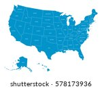 map of united states of america ... | Shutterstock .eps vector #578173936