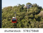 red cable car on mountain at... | Shutterstock . vector #578175868