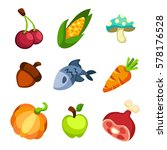 set of cartoon food icons | Shutterstock .eps vector #578176528