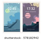 creative unlock page set. flat...
