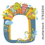 original frame with elements of ...   Shutterstock .eps vector #57818344