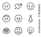 emotions icon. set of 9...   Shutterstock .eps vector #578183602