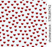 heart pattern. seamless vector... | Shutterstock .eps vector #578184742