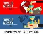 flat design vector business... | Shutterstock .eps vector #578194186