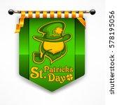 leprechaun green award banner.... | Shutterstock .eps vector #578195056