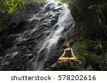 serenity and yoga practicing at ... | Shutterstock . vector #578202616