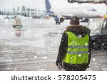 airport manager standing under... | Shutterstock . vector #578205475