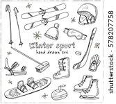 winter fun sports  activities... | Shutterstock .eps vector #578207758