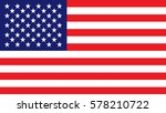 usa flag | Shutterstock .eps vector #578210722