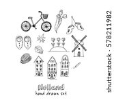 doodle hand drawn collection of ... | Shutterstock .eps vector #578211982