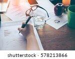 business woman analyzing...   Shutterstock . vector #578213866