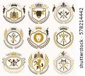 vector classy heraldic coat of... | Shutterstock .eps vector #578214442