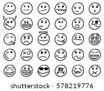 set of smiley or emoticon icons ...