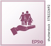 family life insurance sign icon.... | Shutterstock .eps vector #578222692