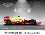 race car ads template mock up ... | Shutterstock .eps vector #578222758
