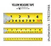 yellow measure tape vector | Shutterstock .eps vector #578223466