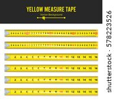 yellow measure tape vector....