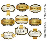 luxury premium golden labels... | Shutterstock .eps vector #578224576
