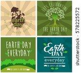 world earth day illustration... | Shutterstock .eps vector #578225572