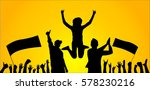 background with cheering people  | Shutterstock .eps vector #578230216