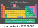 periodic table of the elements... | Shutterstock .eps vector #578230306