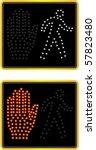 nyc crosswalk signal | Shutterstock .eps vector #57823480