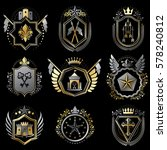 heraldic decorative emblems... | Shutterstock .eps vector #578240812