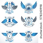 set of luxury heraldic vector... | Shutterstock .eps vector #578240998