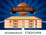 vector of basketball match with ... | Shutterstock .eps vector #578241496