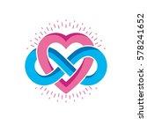 everlasting love concept ... | Shutterstock .eps vector #578241652