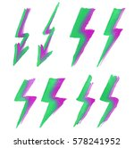 set of colorful lightning icons.... | Shutterstock .eps vector #578241952