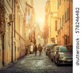 rome. people on the street with ... | Shutterstock . vector #578246482