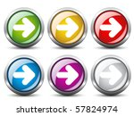 vector arrow buttons | Shutterstock .eps vector #57824974