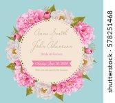 wedding invitation card  save...   Shutterstock .eps vector #578251468