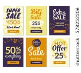 flat design sale website... | Shutterstock .eps vector #578252206