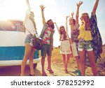 summer holidays  road trip ... | Shutterstock . vector #578252992