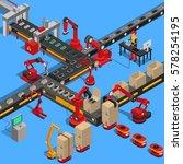 industrial conveyor process of... | Shutterstock .eps vector #578254195
