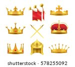 Golden Ancient Crowns And...