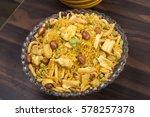gadbad mixture or besan namkeen ... | Shutterstock . vector #578257378