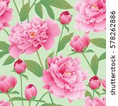 elegance seamless color peony... | Shutterstock .eps vector #578262886