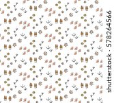 pattern with hand drawn doodle... | Shutterstock .eps vector #578264566