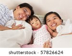 chinese family having fun on... | Shutterstock . vector #57826624