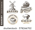 set bread logo   vector... | Shutterstock .eps vector #578266702